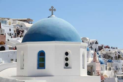Santorini Oia Church Greece Travel White Village