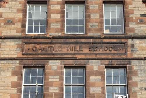 School Scotland Stone Scottish Building House