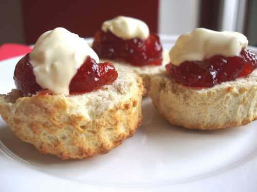 Scones Tea Time Dessert Baking