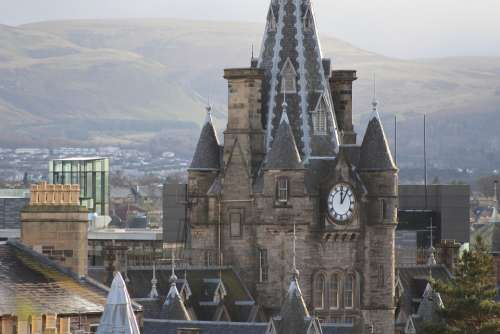 Scotland Church Building Historical Edinburgh