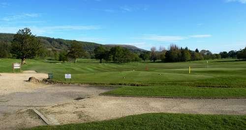 Scottish Golf Course Landscape Sky Clouds Grass