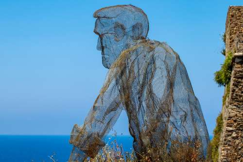 Sculpture Art Statue Artwork View Vision Sky Sea
