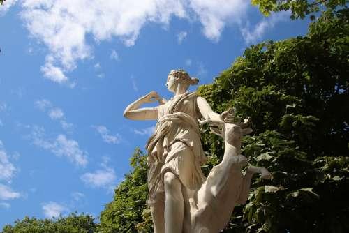 Sculpture Statue Mythology Diana Woman The Story