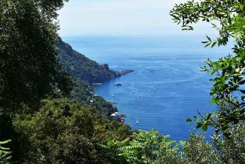 Sea Liguria Italy Landscape Tourism Water Holiday