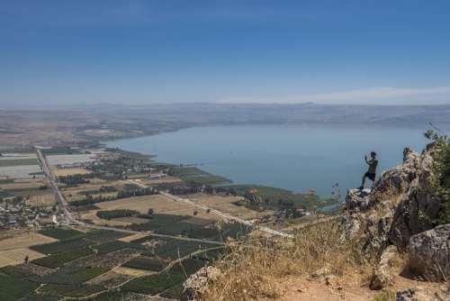 Sea Of Galilee Israel Desert Galilee Landscape