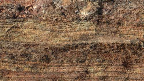 Sedimentary Rock Strata Layers Ancient