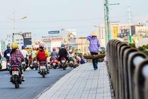 Sell Road Bridge Retail Business Asia People