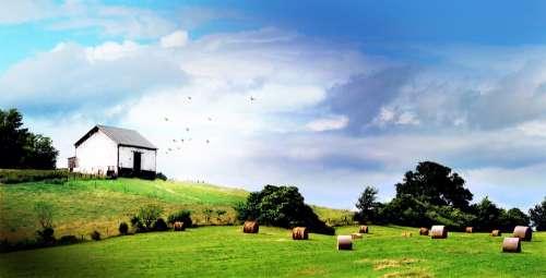 Shenandoah Valley Barn Farm Countryside Landscape
