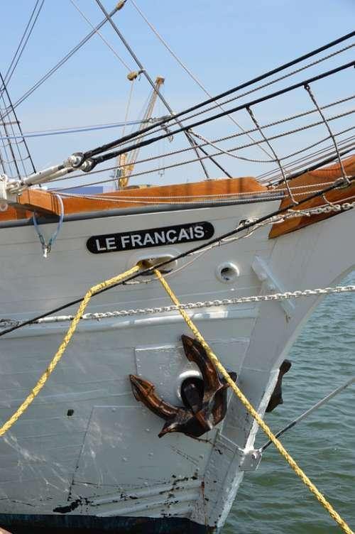 Ship Mast Boat Three-Masted Schooner Topsail Oak