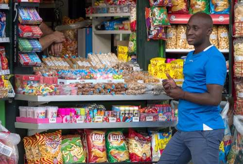 Shop Races Immigrant Sweets Popcorn Potatoes Joy
