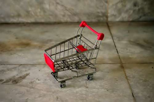 Shopping Cart Rusted Small Toy Mini Shop Cart
