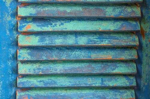 Shutter Wood Blue Turquoise Weathered Lamellar