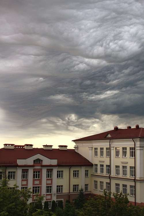 Sky Rainy Cloud Summer Thunderstorm Storm Weather