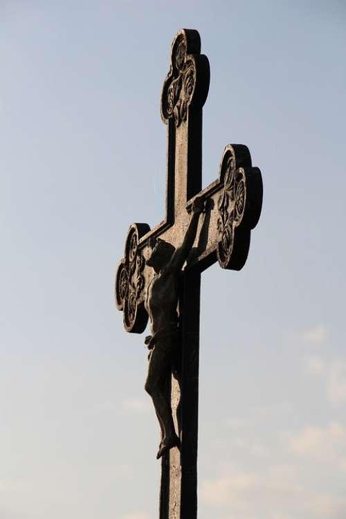 Sky Cross Jesus Faith Christ Christianity