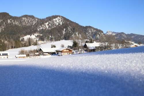 Snow Alpen Austria Mountains Lighting Mood Hiking