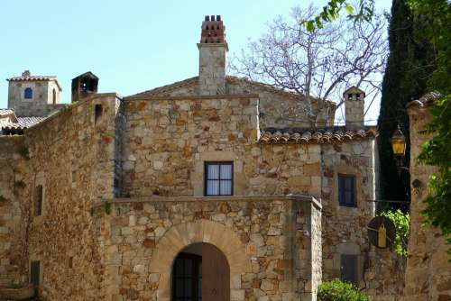 Spain Catalonia Pals Architecture Historically