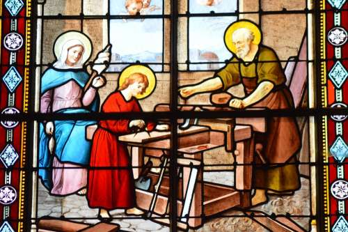Stained Glass Church Window Colorful Business