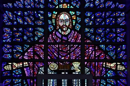 Stained Glass Window Buckfast Abbey Devon