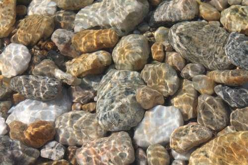 Stones Baikal Lake Nature Beauty Water Sea