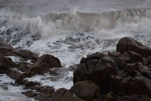 Stormy Sea Ocean Nature Water Seascape Waves