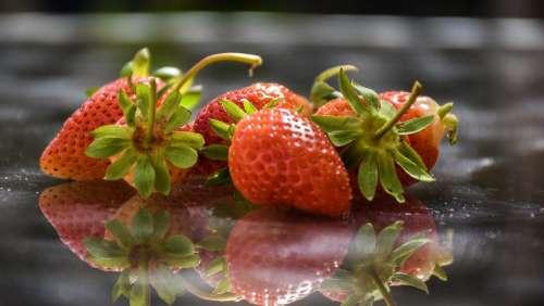Strawberries Berries Fr Fruit Red Sweet Organic