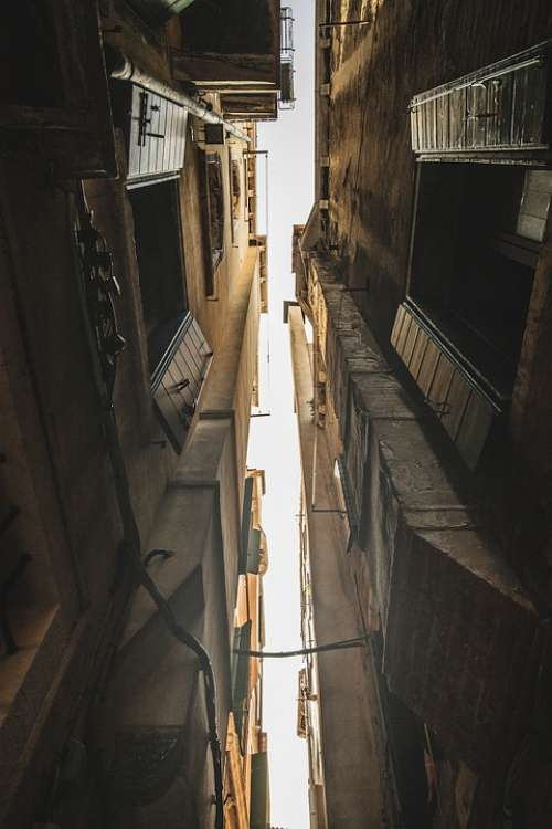 Streets Eng Alley Venice Road City Architecture