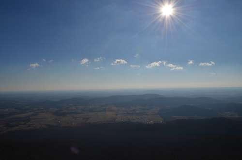 Sun Clouds Valley Sky Landscape Nature Sunlight