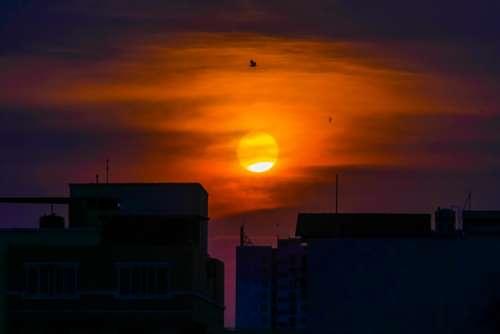Sunset Dawn Sun Night Twilight Dusk Sky Nature