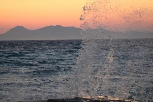Sunset Oda Pier Sea Summer Landscape Holiday