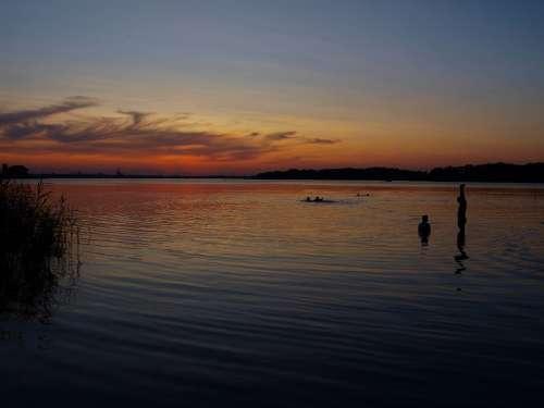 Sunset Sunrise Sea Landscape Sun Evening Beach