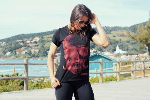 T-Shirt Female Woman Girl Fashion Model Sexy