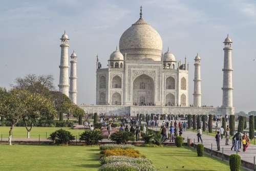 Taj Mahal India Agra Travel Architecture Building