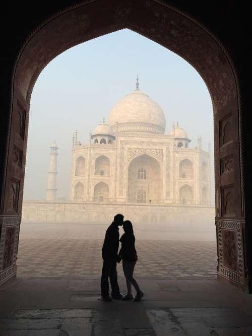 Taj Mahal Silhouette Love India Agra Tajmahal