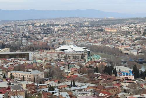 Tbilisi Georgia Tourism Capital City Panorama