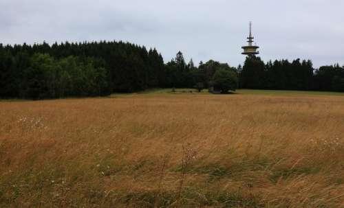 Telecommunication Tower Höllberg In Driedorf Forest