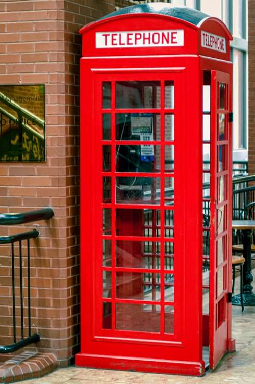 Telephone Booth Red Phone Communication Booth