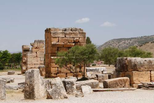The Ruins Of The Historical Stone Antiquity Trees