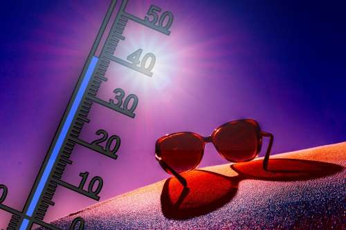 Thermometer Summer Heiss Sunglasses Heat Sun