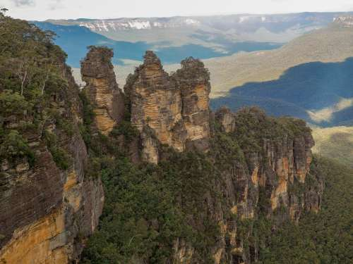 Three Sisters Blue Mountains Mountains Nature
