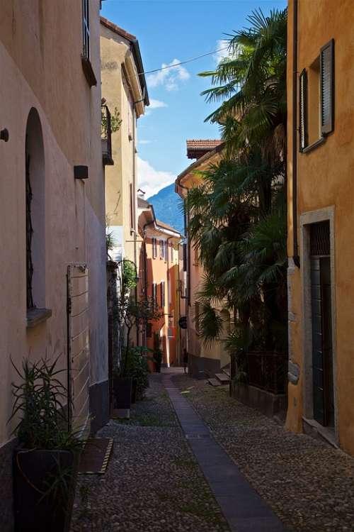 Ticino City Alley Architecture Locarno
