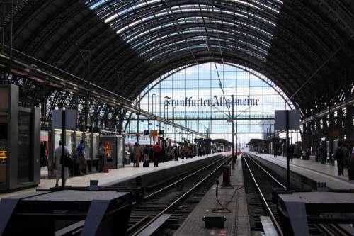 Train Station Frankfurt Germany Europe