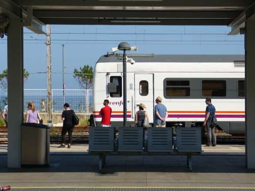 Train Stop Station Railway Nearby Rodalies Renfe