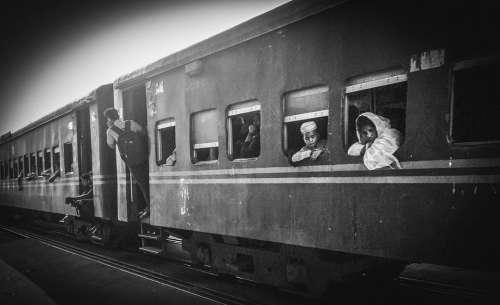 Train People Railway Travel Station Transport