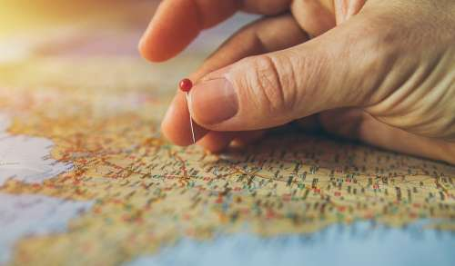 Travel Pinned Pinning Maps Atlas Cartography
