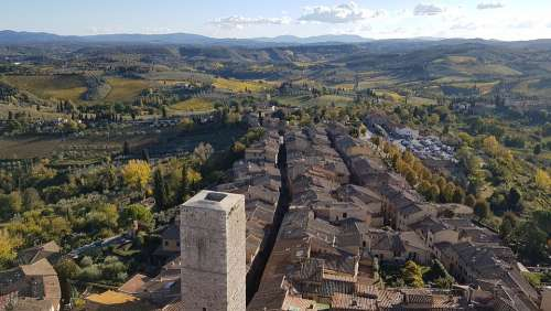 Tuscany San Gimignano Travel Towers Italy