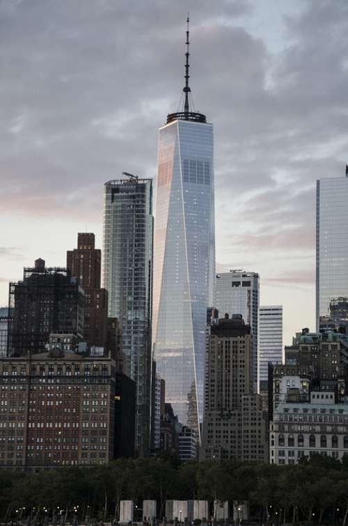 Usa New York Skyline Glass Architecture Nyc