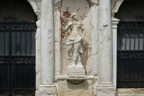 Venice Statue Old Italy Architecture Monument