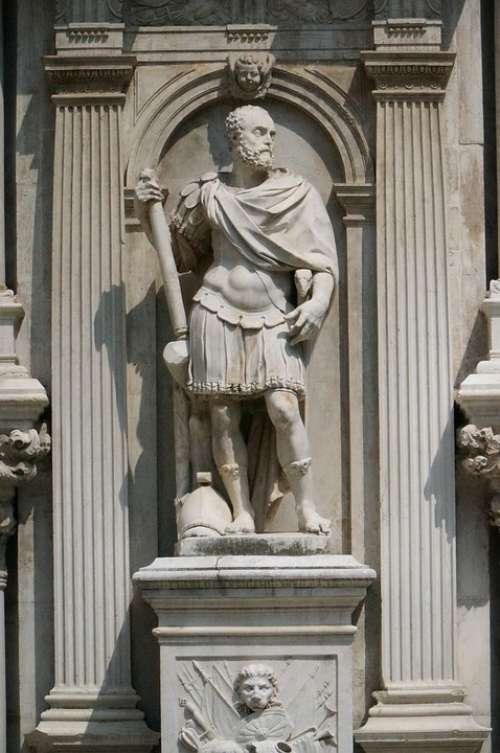 Venice Statue Doge'S Palace Urbino Duke