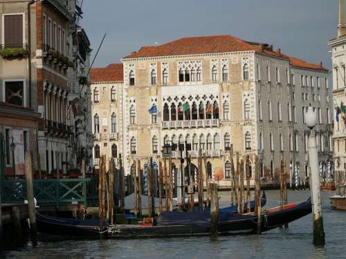 Venice Old Building Architecture Water Boat