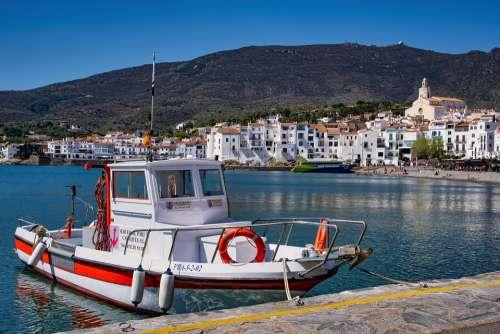 Village Sea Mediterranean Boat Coast Port Summer